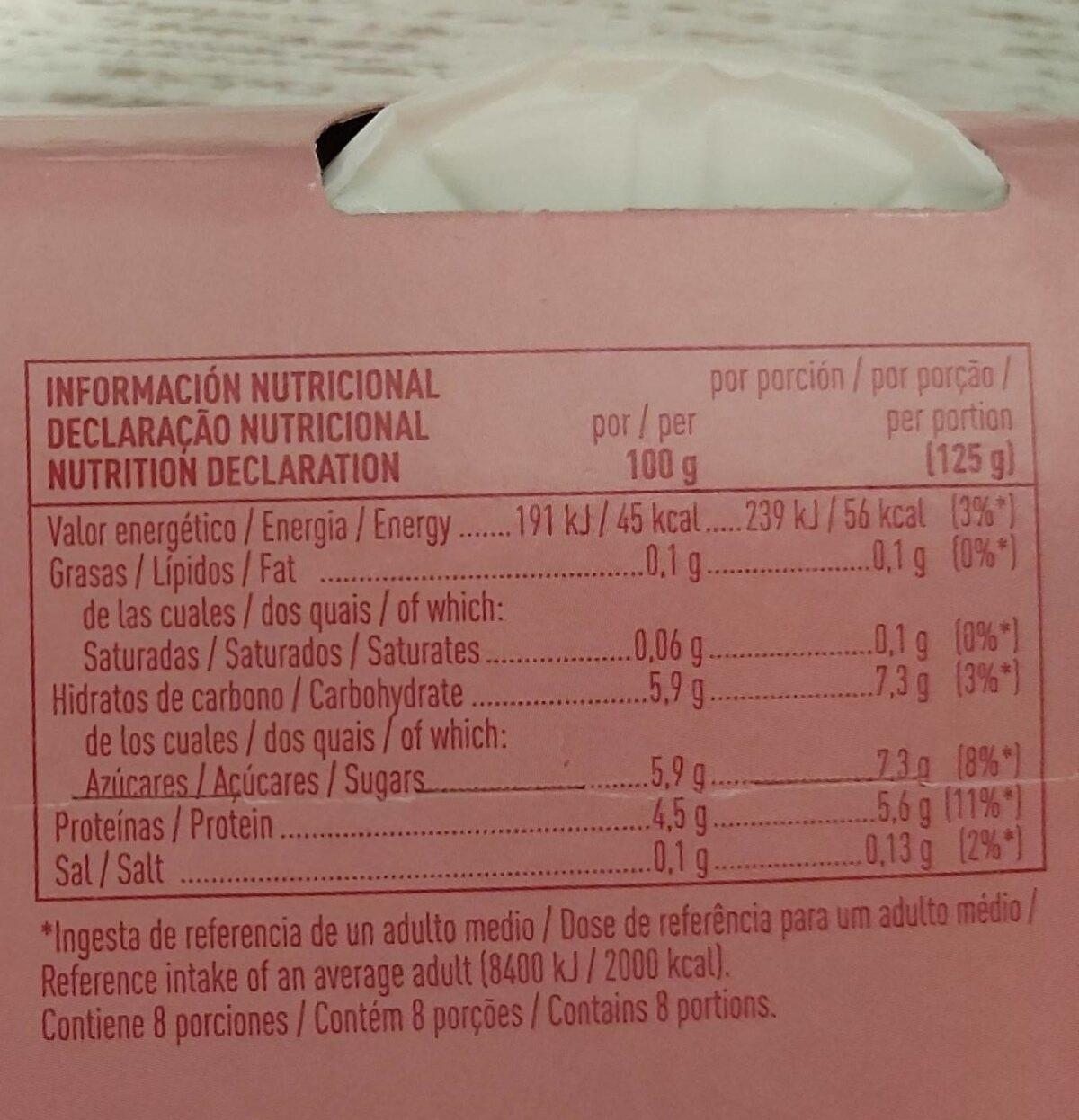 Yogur natural desnatado m.g. sin gluten - Produit - fr