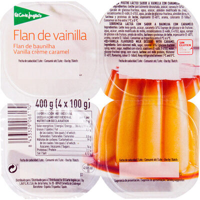 Flan de vainilla - Producte