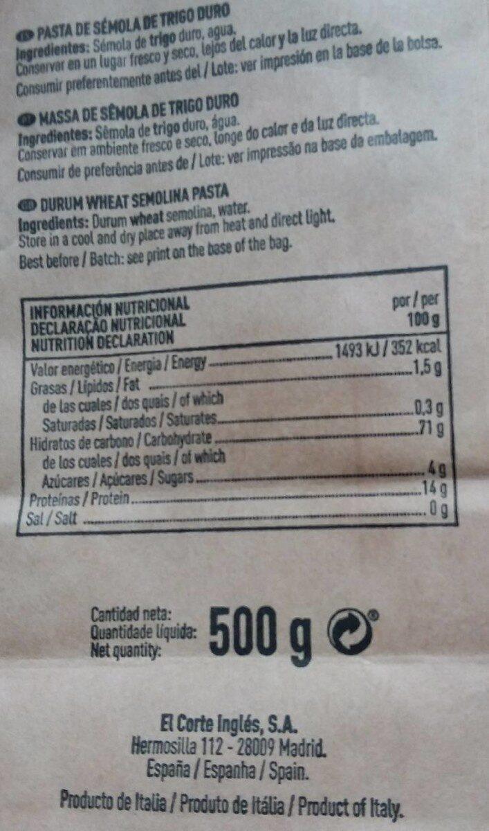 Linguine - Nutrition facts