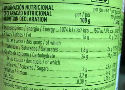 Habas extrafinas - Informations nutritionnelles - es