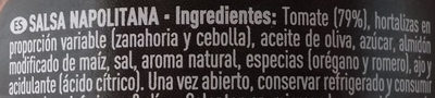 Salsa napolitana - Ingrédients - es