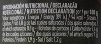 Salsa napolitana - Informations nutritionnelles - es