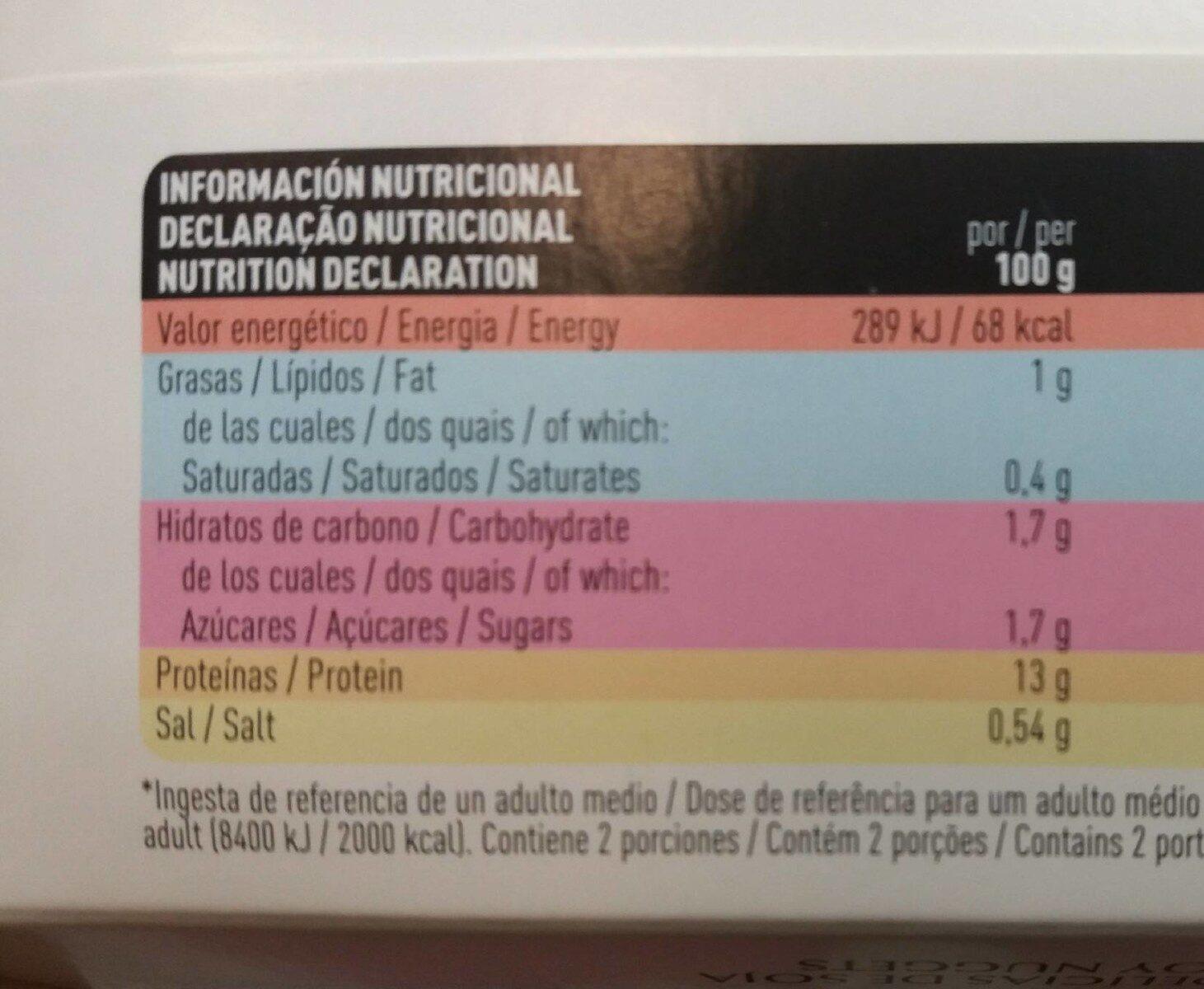 Delicias de soja - Información nutricional