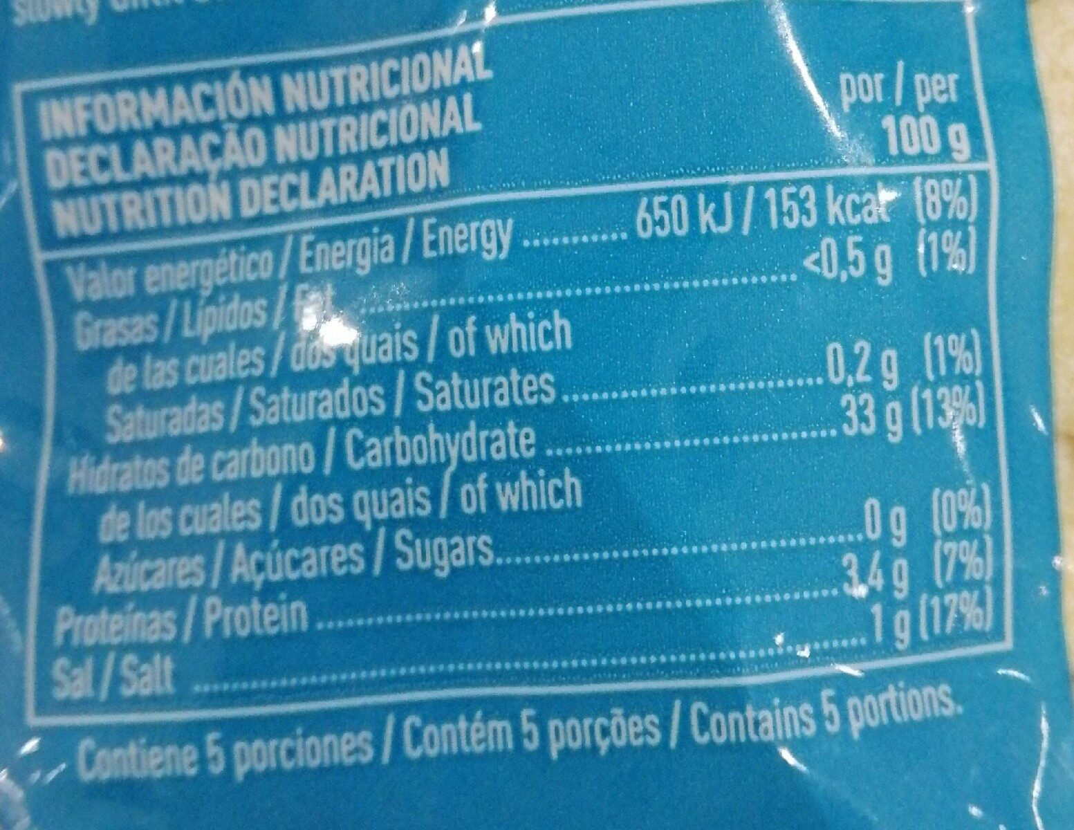 Gnochetti - Nutrition facts - en