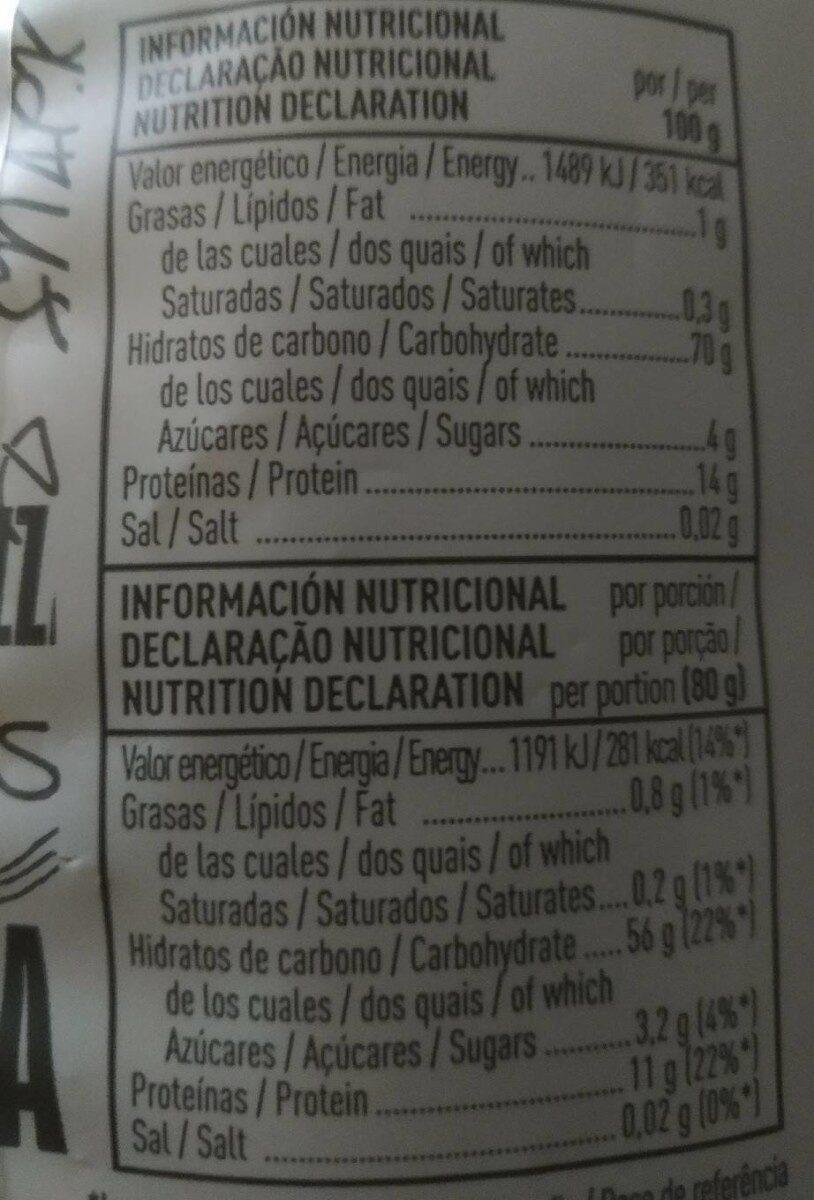 Maccheroni - Informations nutritionnelles - es