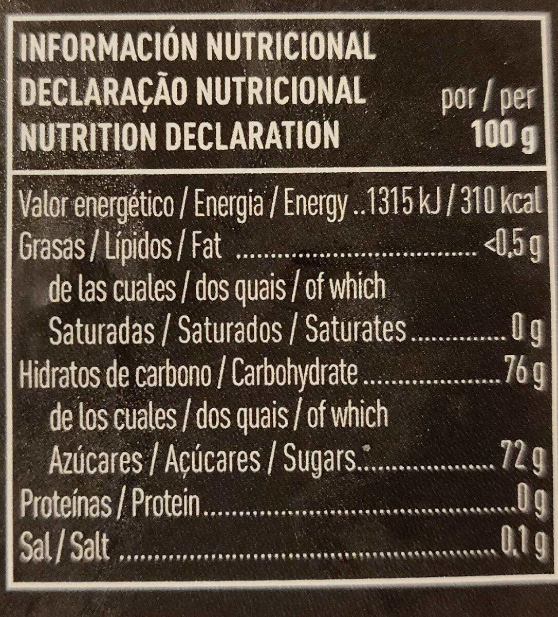 Membrillo 100% natural extra envase 400 g - Informations nutritionnelles - es