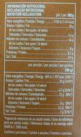 Palomitas sabor a mantequilla - Nutrition facts - es