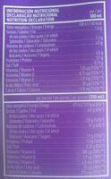 Leche semidesnatada sin lactosa - Información nutricional