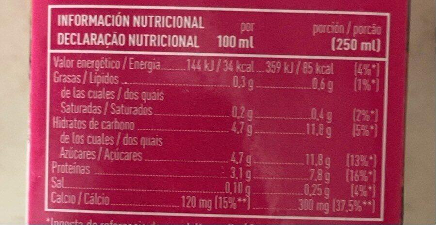Leche UHT desnatada - Informació nutricional - es