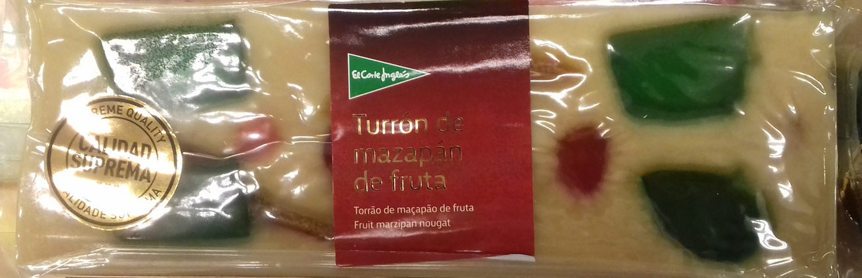 Turrón de mazapán de fruta - Producto - es