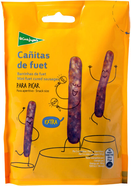 Cañitas de fuet para picar sin gluten - Product - es