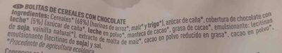Bio bolitas de cereales con chocolate - Ingrédients - es