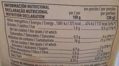 Bio muesli malteado - Informations nutritionnelles - es