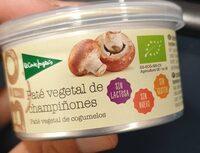 Paté vegetal de champiñón ecológico sin gluten y sin lactosa - Produit - es