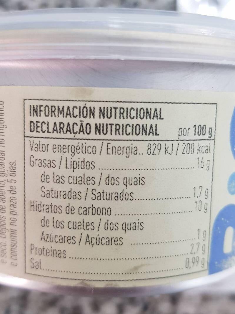 Paté vegetal de shiitake ecológico sin gluten y sin lactosa - Informations nutritionnelles - es