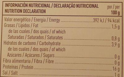 Navajuelas al natural - Nutrition facts