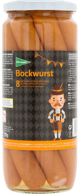Salchichas Bockwurst 8 unidades frasco 720 g neto escurrido - Producte - fr