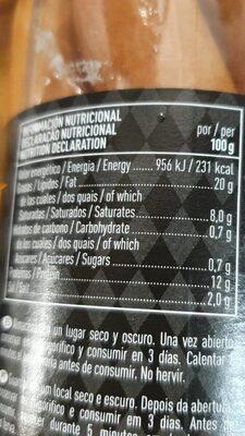 Salchichas Bockwurst 8 unidades frasco 720 g neto escurrido - Informació nutricional - fr