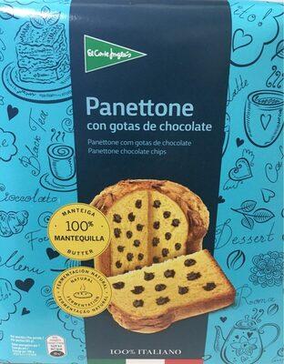 Panettone con gotas de chocolate