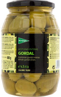 Aceitunas enteras verdes gordal frasco 500 g - Producto - es
