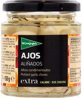 Ajos aliñados en vinagre frasco 150 g - Produit - es