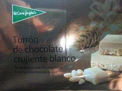 Turrón de chocolate crujiente blanco