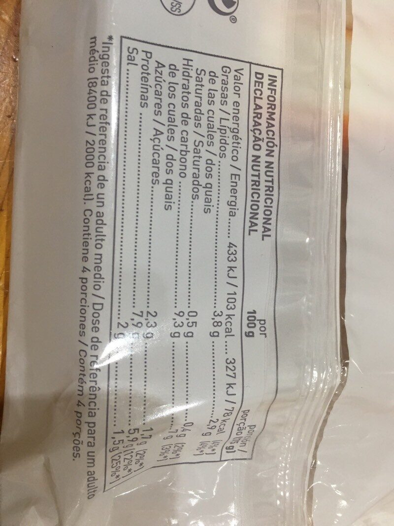 Palitos de surimi - Informations nutritionnelles - es
