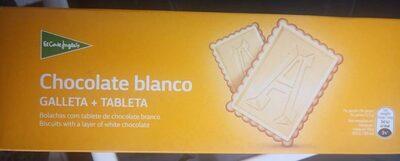 Galletas con tableta de chocolate blanco