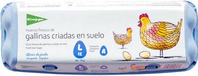 Huevos frescos clase m-l categoria a de gallinas criadas suelo - Produit