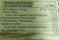 Bio tofu ahumado - Informations nutritionnelles - es