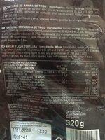 Tortillas mejicanas de trigo 8 unidades envase 320 g - Informations nutritionnelles - es