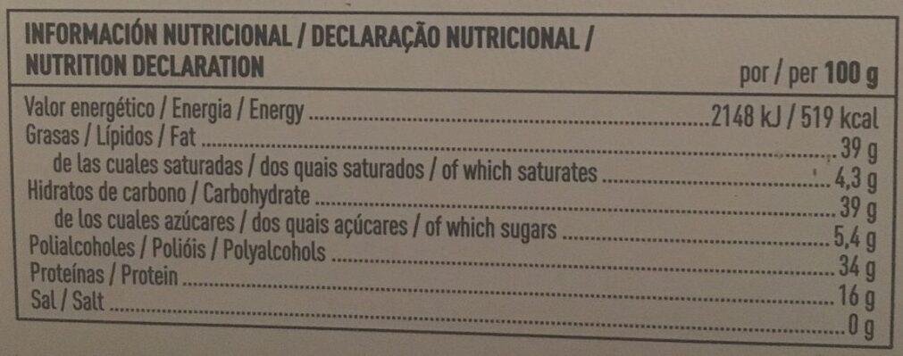 Turron crema de almendras - Información nutricional - es
