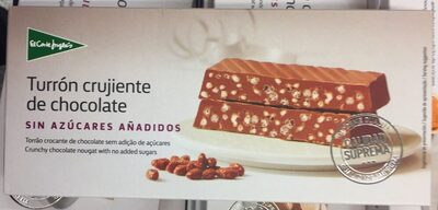 Turrón crujiente de chocolate