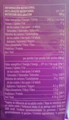 Choco muesli crunchy - Informations nutritionnelles - es