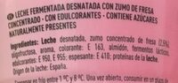 Yogur líquido con fresa desnatado edulcorado - Ingrédients - es