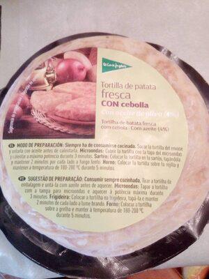 Mini tortilla de patata fresca con cebolla sin gluten - Produit