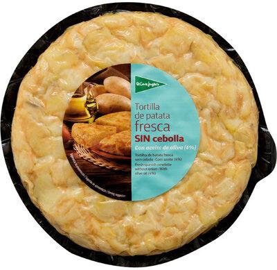 Tortilla de patata fresca sin cebolla