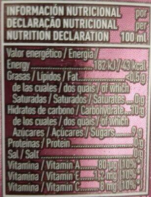 Pleasure Bebida refrescante de zumo de frutas aromatizada - Nutrition facts