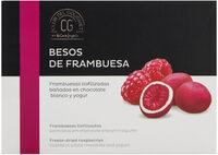 Besos de Frambuesa liofilizadas bañadas en chocolate blanco y yogur - Prodotto - en