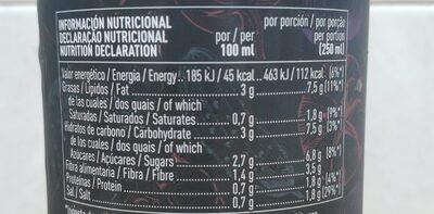 Gazpacho de hortalizas frescas - Información nutricional - es