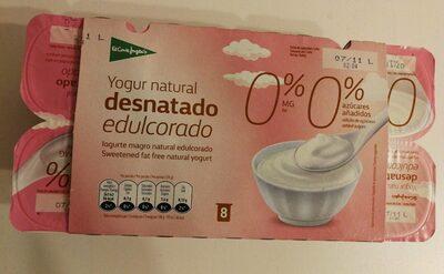 Yogur desnatado edulcorado 0%