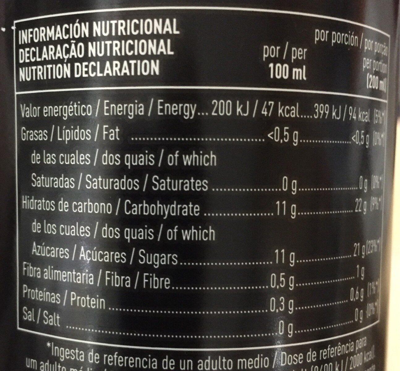 Tropical con kale - Informations nutritionnelles - es