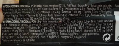 Protein bar vanilla & cookies - Nutrition facts - en