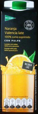 Naranja Valencia late - Produit