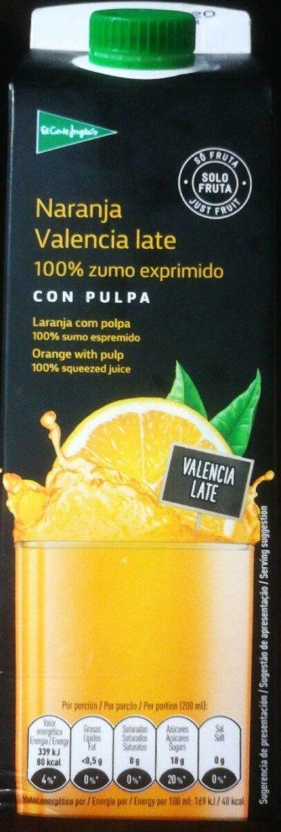 Naranja Valencia late - Produit - es