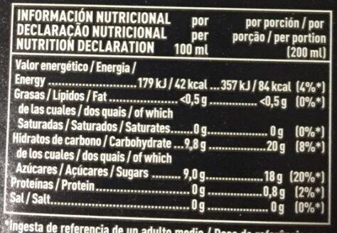 Zumo Mandarina - Voedingswaarden - es