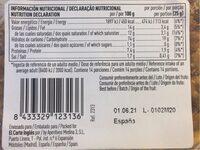 Maíz Frito - Valori nutrizionali - en