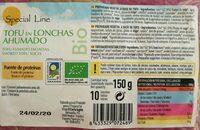 Tofu en lonchas ahumado - Product
