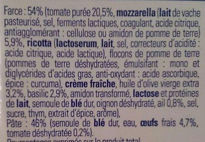 Demi-lune tomate basilic mozzarella - Ingrédients