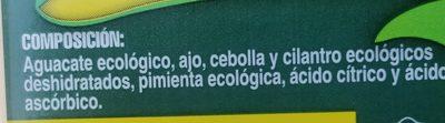 Guacamole ecológico - Ingredients